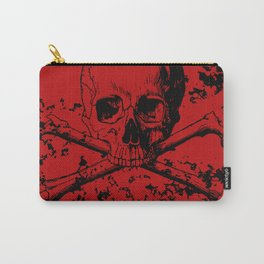 Skull and Crossbones Splatter Pattern Carry-All Pouch
