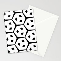 Van Trijp Black & White Pattern Stationery Cards