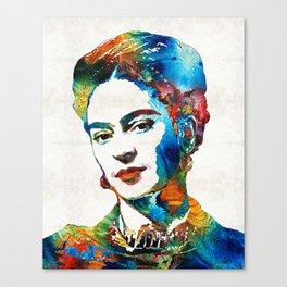 Frida Kahlo Art - Viva La Frida - By Sharon Cummings Canvas Print