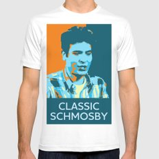 Classic Schmosby White Mens Fitted Tee MEDIUM