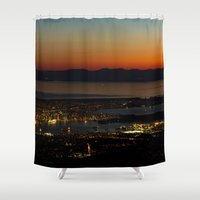 vancouver Shower Curtains featuring Vancouver at Sunset by Will Parker Photography