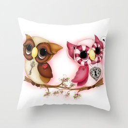 So In Love Hooties - Owl iPhone Case Throw Pillow