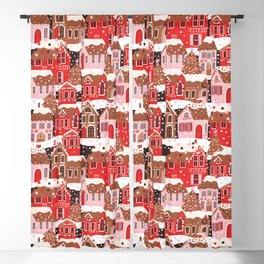Gingerbread Village Blackout Curtain