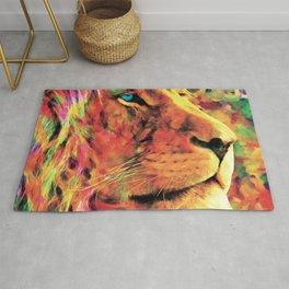 Mr Lion - Modern oil painting Rug