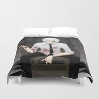 tokyo ghoul Duvet Covers featuring Kaneki Tokyo Ghoul 2 by Prince Of Darkness