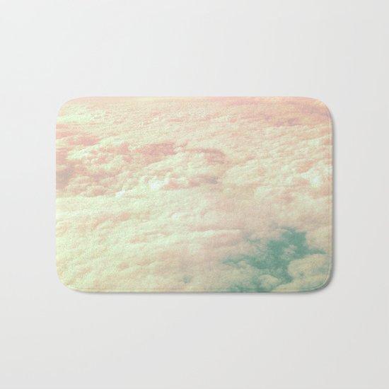 Raindbow Clouds Bath Mat