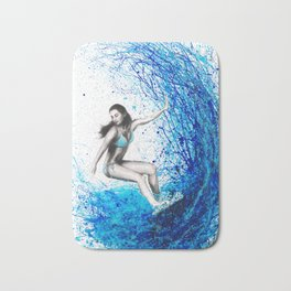 Thoughts and Waves Bath Mat