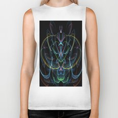 Digital Lotus Flower Biker Tank