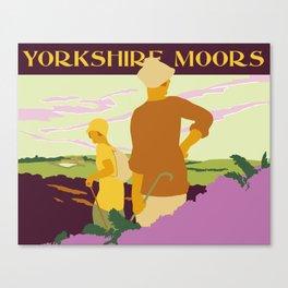 Yorkshire Moors hiking Canvas Print
