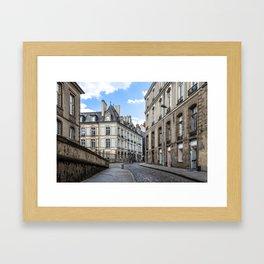 Old town street of Rennes Framed Art Print