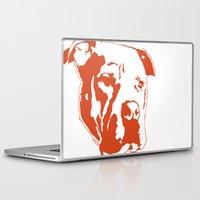 pitbull Laptop & iPad Skins featuring COACH - ORANGE by Kirk Scott