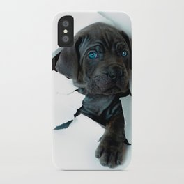 Neapolitan Mastiff black dog  Tearing Through iPhone Case