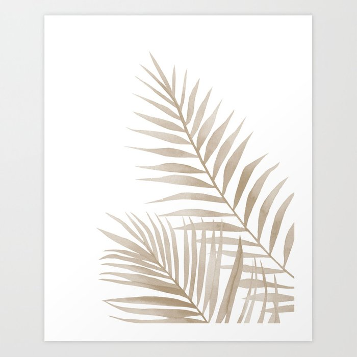 Discover the motif BEIGE LEAVES by Art by ASolo as a print at TOPPOSTER