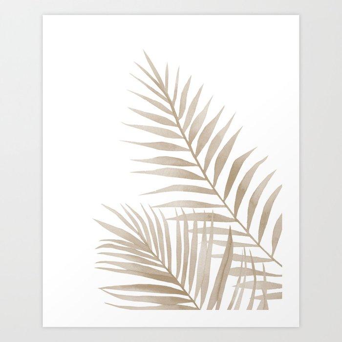 Descubre el motivo BEIGE LEAVES de Art by ASolo como póster en TOPPOSTER