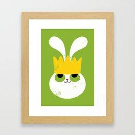 Rabbit King Framed Art Print