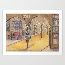 Literary Land: Hotel Lobby Art Print