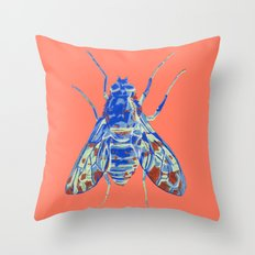 Tiger Bee Fly 2 Throw Pillow