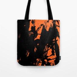 Orange Base black Tote Bag