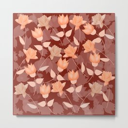 Pattern of roses Metal Print