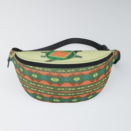 Native American Folk Art Turtle Fanny Pack