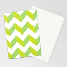 green pattern geometric Stationery Cards