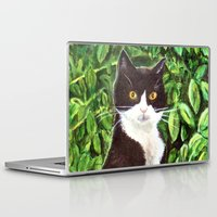 kitty Laptop & iPad Skins featuring Kitty by gretzky
