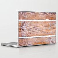 wooden Laptop & iPad Skins featuring Wooden Boards by Patterns and Textures