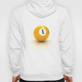 yellow pool billiard ball number 1 one Hoody