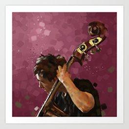 Double Bass Player Art Print