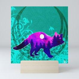 Raccoon Spirit Moon Mini Art Print