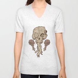 Cyborg Skull Unisex V-Neck