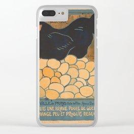 Vintage poster - I am a Fine War Hen Clear iPhone Case