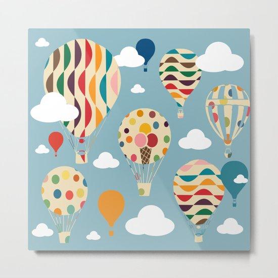 hot air ballon Metal Print