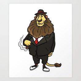 Mafia gangster gift robber Cosa Nostra Art Print