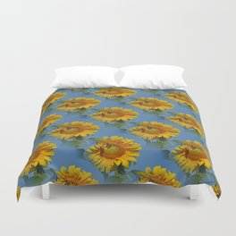 Sunflowers and friends.... Duvet Cover