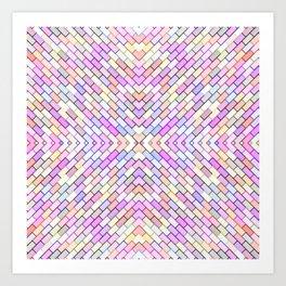 pastel brick pattern Art Print
