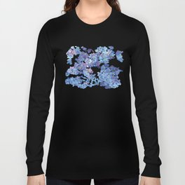 Periwinkle Flowers-Floral Design-Style 3-by Hxlxynxchxle Long Sleeve T-shirt