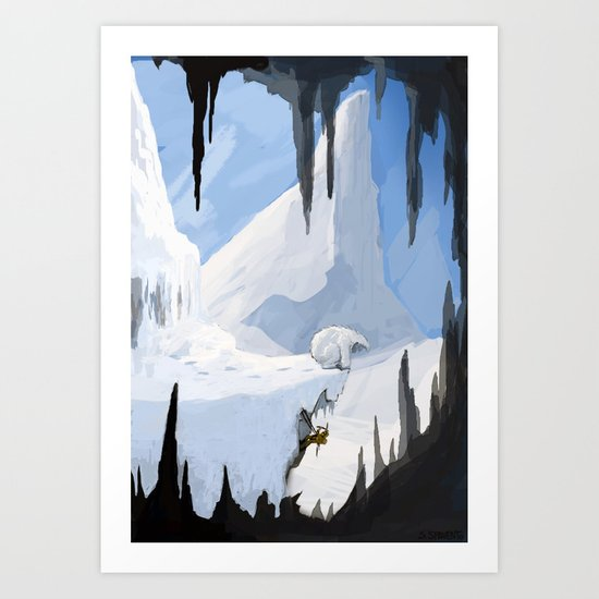 Yeti Encounter Art Print