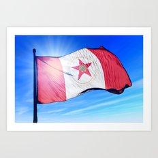 Birmingham, Alabama (USA), flag waving on the wind Art Print