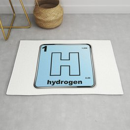 Hydrogen From The Periodic Table Rug