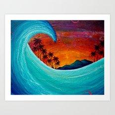 Somewhere in Paradise Art Print