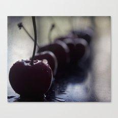 cherries row Canvas Print