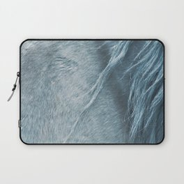 Wild horse photography, fine art print of the mane, for animal lovers, home decor Laptop Sleeve