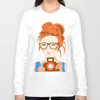 photographer Long Sleeve T-shirts featuring Photographer by KylaArt