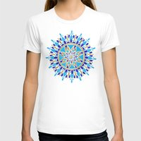 royal T-shirts featuring Royal Blue Mandala by Cat Coquillette