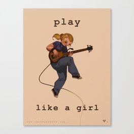 Play Like a Girl Canvas Print