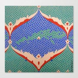 BLUE GREEN IZNIKY Canvas Print