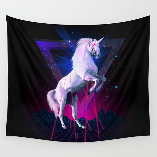 The last laser unicorn Wall Tapestry