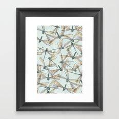 watercolor dragonflies Framed Art Print