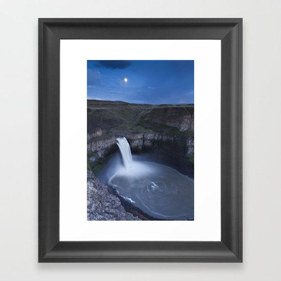 Palouse Falls Moon Framed Art Print